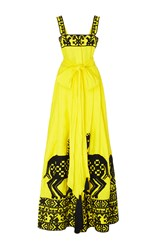 Yuliya Magdych Herd Linen Dress Yellow