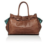 Zagliani Women's Gatsby Tote Brown