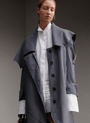 Burberry Teal Blue Trench Coat