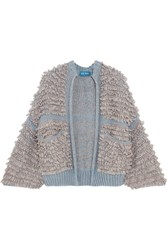 Mih Jeans M.I.H Alice Boucle Knit Cardigan Gray
