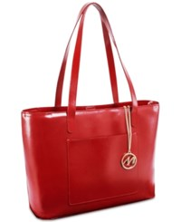 Mcklein Alyson Leather Tote Red