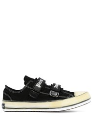 Palm Angels Velcro Vulcanized Canvas Lowtop Sneakers Black