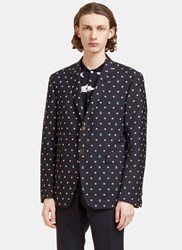 Thom Browne Buoyancy Ring And Anchor Embroidered Blazer Jacket Navy