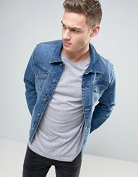 Esprit Mid Wash Classic Denim Jacket Denim Blue