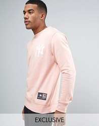 Majestic Yankees Oversized Sweatshirt Exclusive To Asos Pink