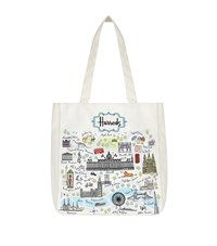 Harrods London Map Embroidered Bag Unisex