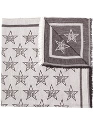 Diesel Light Scarf With All Over Star Motif Black