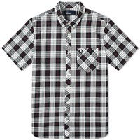 Fred Perry Short Sleeve Check Pocket Shirt White