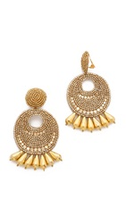 Kenneth Jay Lane Statement Earrings Gold
