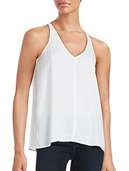 James Perse V Neck Tank White