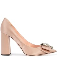 Rochas Embellished Bow Pumps Pink And Purple