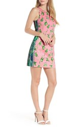 Lilly Pulitzer Mila Stretch Shift Dress Coral Reef Tint Chimpoiserie