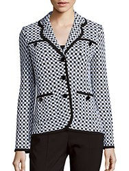 St. John Checkered Jacquard Knit Jacket
