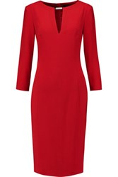 Joseph Gagner Stretch Crepe Dress Crimson