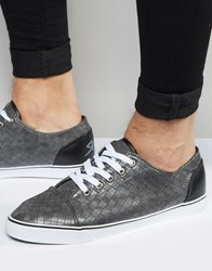Rock And Religion Woven Plimsolls Grey