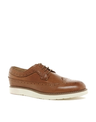 Bellfield Leather Brogues With Chunky Sole Brown