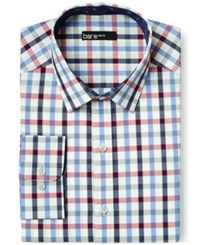Bar Iii Slim Fit Maritime Multi Check Dress Shirt Only At Macy's