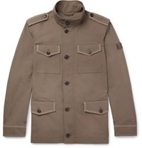 Tod's Cotton And Linen Blend Field Jacket Beige