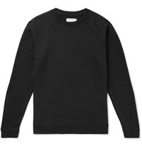 Folk Rivet Loopback Cotton Jersey Sweatshirt Black