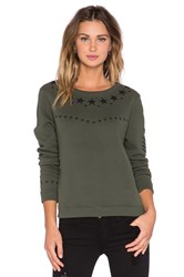 Generation Love Cara Army Embellished Sweatshirt