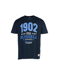 Russell Athletic T Shirts Dark Blue