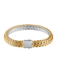 Classic Chain Gold And Silver Diamond Small Reversible Bracelet John Hardy