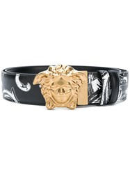 Versace 3D Medusa Buckle Belt Black