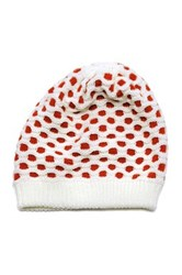 Muk Luks Candy Coated Honey Comb Beanie White