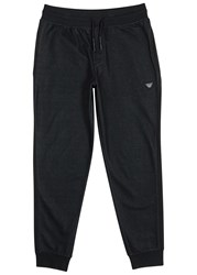 Armani Jeans Black Stretch Denim Jogging Trousers