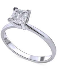 Macy's Diamond Solitaire Engagement Ring 1 Ct. T.W. In 14K White Gold