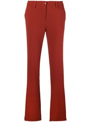 Etro Slim Fit Trousers Red