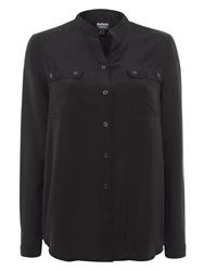 Barbour International Valve Silk Shirt Black