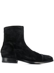 Tagliatore Suede Ankle Boots Black
