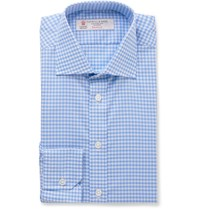 Turnbull And Asser Slim Fit Gingham Cotton Shirt Blue