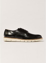 House Of Hounds Black Polido Leather Derby Shoes