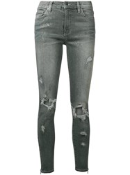 Amiri Distressed Paint Effect Jeans Grey
