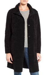 Velvet By Graham And Spencer Women's 'Lux' Reversible Faux Shearling Coat Black