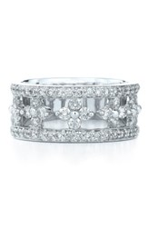 Kwiat Women's 'Jasmine' Floral White Gold And Diamond Ring