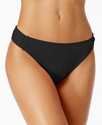 California Waves Side Tab Cheeky Bikini Bottoms Women's Swimsuit Black