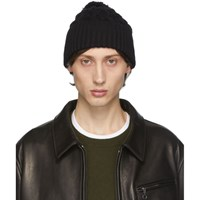 Rag And Bone Black Aran Beanie