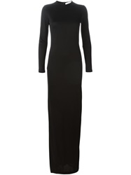 Givenchy Long Satin Gown Black