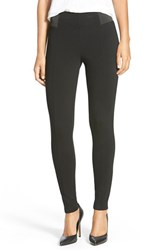 Petite Women's Halogen Seamed Leggings Black