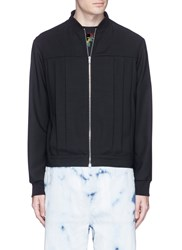 Mcq By Alexander Mcqueen Pleated Virgin Wool Twill Blouson Jacket Black