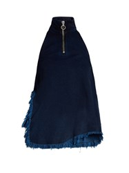 Marques Almeida Frayed Edge Denim Top Indigo