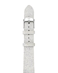 Michele Crystal And Leather Watch Strap 18Mm Snowflake