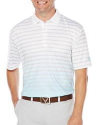 Callaway Golf Performance Gradient Heather Stripe Printed Polo