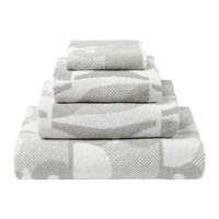Orla Kiely Owl Towel Light Granite Hand Towel