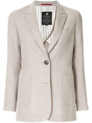Loveless Single Breasted Blazer Grey
