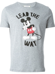 Iceberg Mickey Mouse Applique T Shirt Grey
