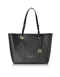 Michael Kors Walsh Large Black Saffiano Leather Ew Top Zip Tote